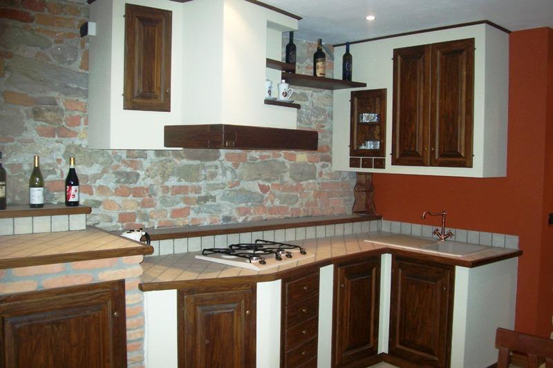Arredamento Cucina In Muratura. Faccia Vista Mattoni Cucine Usate ...